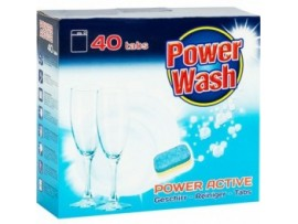 Tabletės indaplovėms Power Wash 40vnt