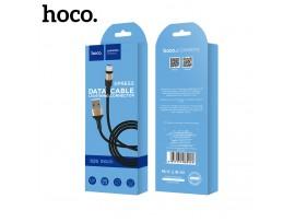 Juodas-auksinis USB kabelis Hoco X26 Lightning 1.0m