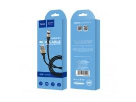 Juodas-auksinis USB kabelis Hoco X26 microUSB 1.0m