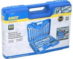 """Įrankių rinkinys lagamine 61 vnt """"Kinzo"""""""