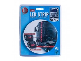 LED juosta 2,5m 24LED, raudona 24v All Ride