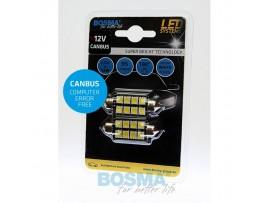 Lemputės BOSMA 12V 6xSMD 5050 LED SV8,5 WHITE 15x41