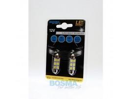 Lemputės BOSMA 12V 6xSMD 5050 LED SV8,5 WHITE 10X39 2vnt.