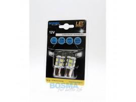 Lemputės BOSMA 12V 13xSMD 5050 LED BA15S WHITE 2vnt.