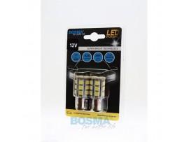 Lemputės BOSMA 12V 24xSMD 5050 LED BAY15D WHITE 2vnt.
