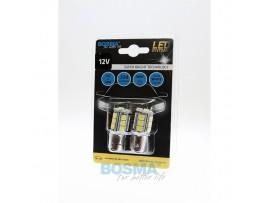 Lemputės BOSMA 12V 4xSMD 5050 LED BAY15D WHITE 2vnt.