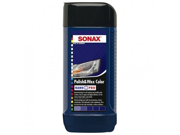 Sonax Mėlynas poliruoklis su vašku NANO-PRO 250ml